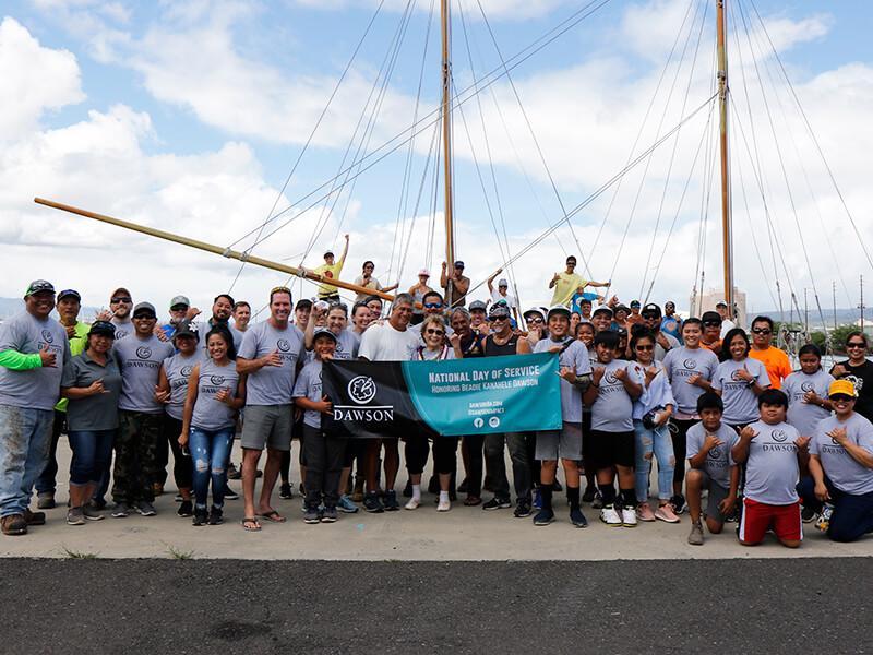 DAWSON group of volunteers