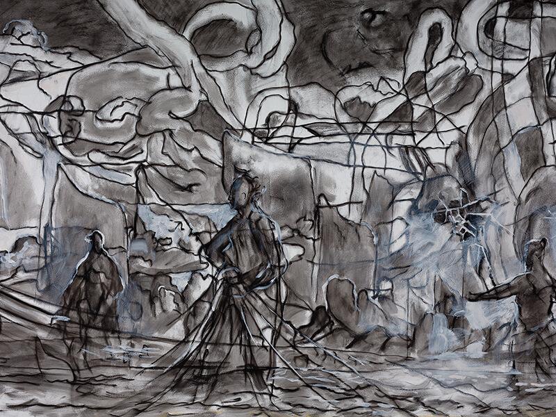 Solomon Enos Mural Setting Sail